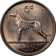 Ireland 6 Pence 1935 KM# 5 Sterling Coinage coin reverse
