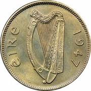 Ireland 6 Pence 1947 KM# 13a Republic ÉIRE 1960 coin obverse