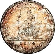 Ireland 6 Shilling George III 1804 Proof KM# Tn1b BANK OF IRELAND TOKEN 1804 SIX SHILLINGS coin reverse