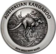Australia 60 Dollars Australian Kangaroo 2019 AUSTRALIAN KANGAROO P 2019 2KILO 9999 SILVER coin reverse