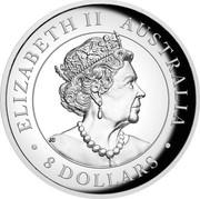 Australia 8 Dollars Australian Kangaroo 2019 ELIZABETH II AUSTRALIA JC 8 DOLLARS coin obverse