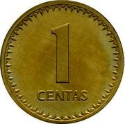 Lithuania Centas 1990 Republic 1 CENTAS coin obverse