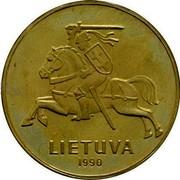 Lithuania Centas 1990 Republic LIETUVA 1990 coin reverse