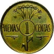 Lithuania Centas Pattern of KM#71 ND (1925) KM# TS2 coin obverse