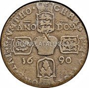 Ireland Crown 1690 Proof KM# 103.1a Gun Money Coinage coin reverse