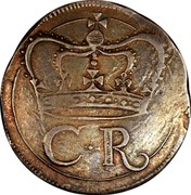 Ireland Crown Charles I (1643-1644) Varieties exist KM# 64 C.R coin obverse