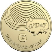 Australia Dollar The Great Aussie Coin Hunt - G 2019 G ONE DOLLAR • G'DAY coin reverse
