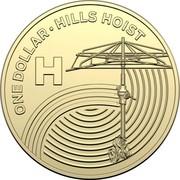 Australia Dollar The Great Aussie Coin Hunt - H 2019 ONE DOLLAR • HILLS HOIST H coin reverse