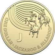 Australia Dollar The Great Aussie Coin Hunt - J 2019 J ONE DOLLAR • JACKAROO & JILLAROO coin reverse