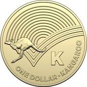 Australia Dollar The Great Aussie Coin Hunt - K 2019 K ONE DOLLAR • KANGAROO coin reverse