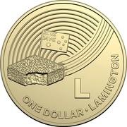 Australia Dollar The Great Aussie Coin Hunt - L 2019 L ONE DOLLAR • LAMINGTON coin reverse