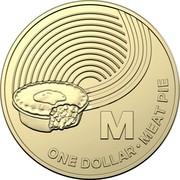 Australia Dollar The Great Aussie Coin Hunt - M 2019 M ONE DOLLAR • MEAT PIE coin reverse