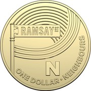 Australia Dollar The Great Aussie Coin Hunt - N 2019 M ONE DOLLAR • NEIGHBOURS coin reverse