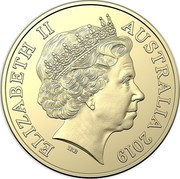 Australia Dollar The Great Aussie Coin Hunt - O 2019 ELIZABETH II AUSTRALIA 2019 IRB coin obverse