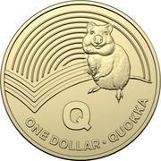 Australia Dollar The Great Aussie Coin Hunt - Q 2019 Q ONE DOLLAR • QUOKKA coin reverse
