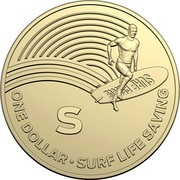 Australia Dollar The Great Aussie Coin Hunt - S 2019 SURF RESCUE S ONE DOLLAR • SURF LIFE SAVING coin reverse