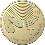 Australia Dollar The Great Aussie Coin Hunt - T 2019 T ONE DOLLAR • THONGS coin reverse