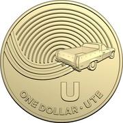 Australia Dollar The Great Aussie Coin Hunt - U 2019 U ONE DOLLAR • UTE coin reverse