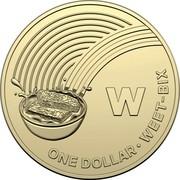 Australia Dollar The Great Aussie Coin Hunt - W 2019 W ONE DOLLAR • WEET-BIX coin reverse