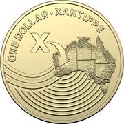 Australia Dollar The Great Aussie Coin Hunt - X 2019 ONE DOLLAR • XANTIPPE X coin reverse
