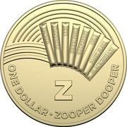 Australia Dollar The Great Aussie Coin Hunt - Z 2019 ORANGE PINEAPPLE LIME BUBBLEGUM RASPBERRY COLA FAIRY FLOSS BLACKCURRANT Z ONE DOLLAR • ZOOPER DOOPER coin reverse