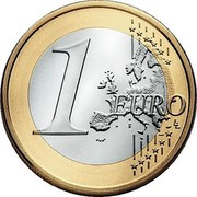 Lithuania Euro 2015 LMK KM# 211 Euro Coinage 1 EURO LL coin reverse