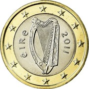 Ireland Euro 2nd map 2011 KM# 50 ÉIRE 2007 coin obverse