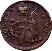 Ireland Farthing (1678) KM# 86.1 Standard Coinage FLOREAT REX coin obverse