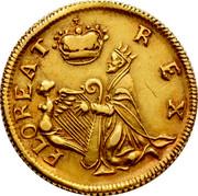 Ireland Farthing (1678) KM# 86.2b Standard Coinage FLOREAT REX coin obverse