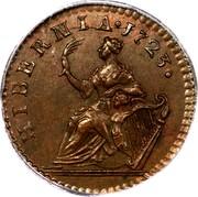 Ireland Farthing 1723 . KM# 119a Standard Coinage HIBERNIA . 1723 coin reverse