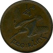 Ireland Farthing 1932 KM# 1 Sterling Coinage 1/4D FEOIRLING coin reverse