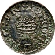 Ireland Farthing Charles I (1625-1644) KM# 25.27 CARO D G MAG BRI coin obverse