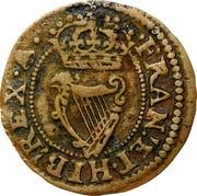 Ireland Farthing Charles I (1625-1644) KM# 27.7 FRAN∙ ET∙ HIB: REX coin reverse