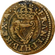 Ireland Farthing Charles I (1625-1644) KM# 27.5 FRAN∙ ET∙ HIB: REX coin reverse