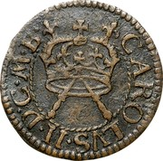 Ireland Farthing Charles I (1660-1661) KM# 85 CAROLVS II D G M B coin obverse