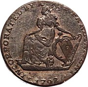 Ireland Farthing (Dublin (Turner Camac)) INCORPORATED BY ACT OF PARLIAMENT . 1792 . coin obverse
