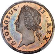 Ireland Farthing George II 1737 KM# 126 GEORGIUS II REX coin obverse