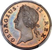 Ireland Farthing George II 1737 KM# 126a GEORGIUS II REX coin obverse