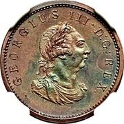Ireland Farthing George III 1806 KM# 146.1b GEORGIUS III D∙G∙REX. coin obverse