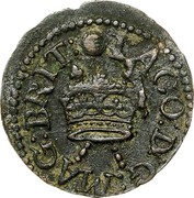 Ireland Farthing James I 1613 KM# 22.1 IACO: D: G: MAG: BRIT: coin obverse