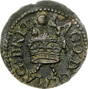 Ireland Farthing James I 1613 KM# 22.10 IACO: D: G: MAG: BRIT: coin obverse
