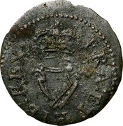 Ireland Farthing James I 1613 KM# 22.21 FRA: ET: HIB: REX: coin reverse