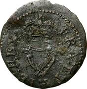 Ireland Farthing James I 1613 KM# 22.24 FRA: ET: HIB: REX: coin reverse