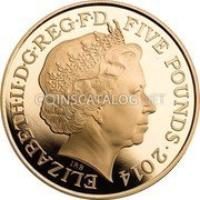 UK Five Pounds (The 300th Anniversary of the Death of Queen Anne)  coin obverse