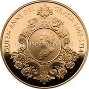 UK Five Pounds (The 300th Anniversary of the Death of Queen Anne)  coin reverse