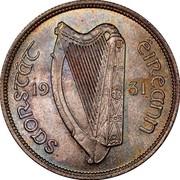 Ireland Florin 1931 KM# 7 Sterling Coinage SAORSTÁT ÉIREANN 19 33 coin obverse