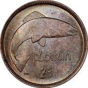 Ireland Florin 1931 KM# 7 Sterling Coinage FLÓIRIN 2S PM coin reverse