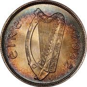 Ireland Florin 1942 KM# 15 Republic ÉIRE 1940 coin obverse
