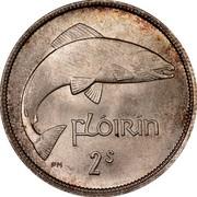 Ireland Florin 1942 KM# 15 Republic FLÓIRIN 2S PM coin reverse