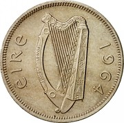 Ireland Florin 1964 KM# 15a Republic ÉIRE 1964 coin obverse